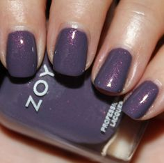"""zoya """"lotus"""" - """"medium very greyed out dusty purple/lavender with understated pink shimmer"""""""