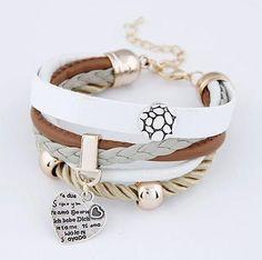 Fashion Women Jewelry Leather Double Infinite Multilayer Bracelets