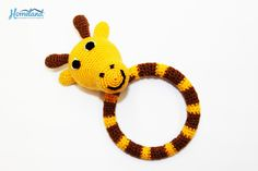 This baby ring rattle giraffe will bring joy to your much-loved baby. They are finely hand crocheted in the south of Armenia. Order yours simply dropping a message to marketing@hdif.org!