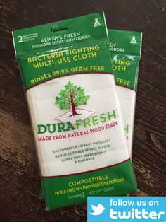 Are you on Twitter? Follow us for green home cleaning tips, tricks, and product updates.https://www.twitter.com/durafreshcloth