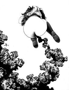 Juxtapoz Magazine - The Ballpoint Pen Illustrations of Shohei Otomo Pen Illustration, Illustrations, Character Illustration, Sketch Manga, Drawing Sketches, Pen Drawings, Estilo Punk Rock, Ballpoint Pen Drawing, Monochrom