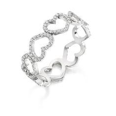 Beautiful Heart shapes eternity Band from Loyes Diamonds. Wedding Jewelry, Wedding Rings, Eternity Bands, Diamond Rings, Heart Shapes, Silver Jewelry, Jewelry Design, White Gold, Rose Gold
