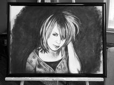"Unknown Title, Mindy Singleton,  Charcoal-pastels, 18""x24"""