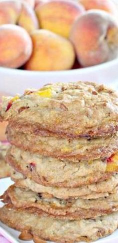 Peachy Party Cookies - Can't Stay Out of the Kitchen