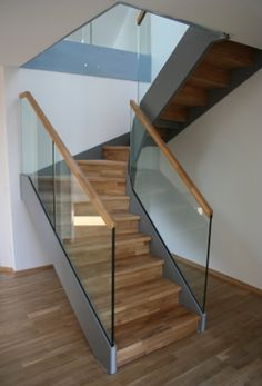 glass stair railing frames by wood love glass stairs. Black Bedroom Furniture Sets. Home Design Ideas
