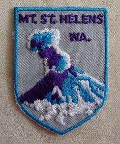 Mount St Helen's Souvenir Travel Patch Washington State | eBay