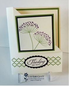 Folded corner card Summer Silhouettes and video