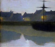 Émile-René Ménard (French, 1861-1930)  Twilight on the Canal, 1894. Oil on canvas. 159 заметок