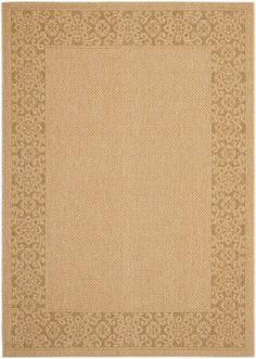RugStudio presents Safavieh Courtyard Cy6011-39 Natural / Gold Machine Woven, Good Quality Area Rug