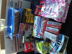 Care Packages--great ideas for when sending things to friends far away, like my missionary friends =)