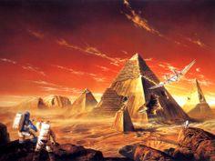 Extranjeros astronautas cráter desiertos fantasía del Papel pintado arte (# 99234) / Wallbase.cc