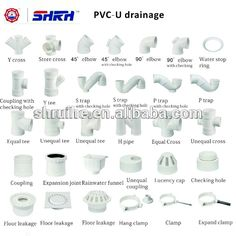 2 1 2 inch pvc waste water pipe and fittings buy grey for Types of plumbing pipes materials