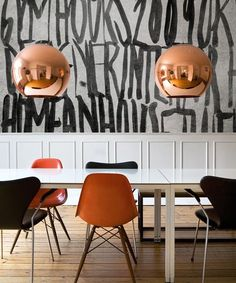 Copper Shade Suspension Lamp