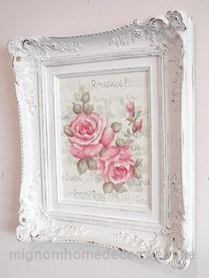 - Do you love shabby chic home decor? How about farmhouse decor? This Shabby Chic Upcy .- Do you love shabby chic home decor? How about farmhouse decor? This shabby chic upcycled photo frame is Jardin Style Shabby Chic, Cottage Shabby Chic, Cocina Shabby Chic, Muebles Shabby Chic, Shabby Chic Mode, Shabby Chic Interiors, Shabby Chic Living Room, Shabby Chic Bedrooms, Shabby Chic Kitchen