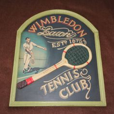 Antique Tennis wall art Tennis sign Tennis signboard Tennis gift Tennis decor Tennis club Wimbledon Lawn Tennis wall decor Pub Bar decor Pub Decor, Wall Decor, Wall Art, Wimbledon Tennis Club, Sports Room Decor, Tennis Crafts, Art Deco Chandelier, Lawn Tennis, Tennis Clubs