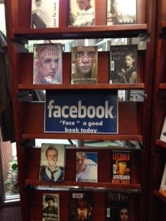 Facebook library / bookstore display