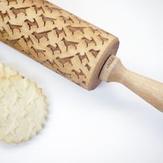 Laser-Engraved Dog Pattern Rolling Pin from Valek Rolling Pins - Dog Milk