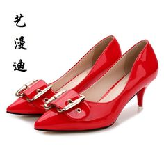 2017 Small Size 31-43 Belt decoration Red Sexy Thin High Heels Women Pumps Ladies Shoes Woman Chaussure Femme Talon Mariage