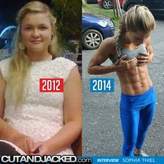 Sophia Thiel amazing transformation story: www.cutandjacked.com/Interview-Sophia-Thiel