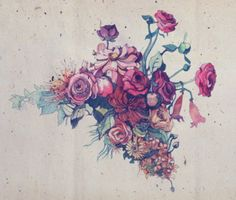 visualgraphic:  Pen & Watercolor Flowers  Holy shit I would TOTALLY get a tattoo like this on my shoulder/back. Absolutely stunning.