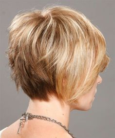 I like the back view,  inverted stacked, or graduated bob, short in back.  Don't like the jagged, uneven back.