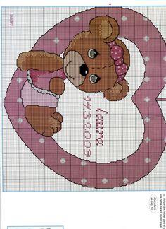 ru / Photo # 118 - for children)) :)) - tastr Baby Cross Stitch Patterns, Cross Stitch For Kids, Cross Stitch Heart, Cross Stitch Alphabet, Cross Stitch Animals, Baby Knitting Patterns, Baby Embroidery, Cross Stitch Embroidery, Baby Chart