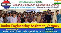 CPCL Recruitment 2017 Jr. Engineering Assistant Jobs 94 Posts