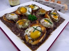 Oeufs en Meurette Sauce (Poached-Eggs-in-a-Red-Wine-Sauce) is one of the grand classics of French country cooking, a dark concentrated essence of red wine, stock, and vegetables. You would expect it to be paired with the equally powerful flavors of meat or poultry.