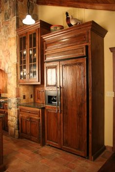 wooden fridge/cabinet. I had no idea you could do this