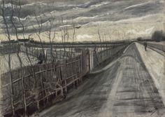 Vincent van Gogh - Country Road, drawing/mixed media