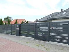 Słup multimedialny, aluminiowy – FENZ House Fence Design, House Main Gates Design, Fence Gate Design, Modern Fence Design, Steel Gate Design, Front Gates, Entrance Gates, Bali House, Arch House