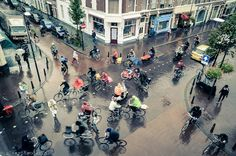 Fietsen in Amsterdam.
