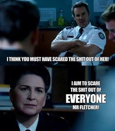"""I aim to scare the shit out of everyone Mr. fletcher."" #JoanFerguson #Governor…"