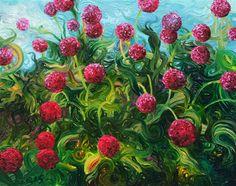 Hydrangeas - oil painting -