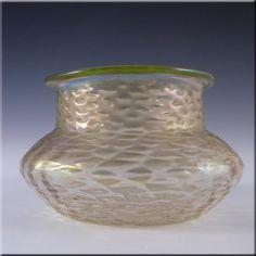 Art Nouveau 1900's Iridescent Kralik Glass Martelé Vase - £80.00