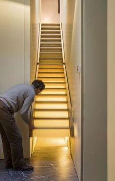 Stairs: secret basement access.