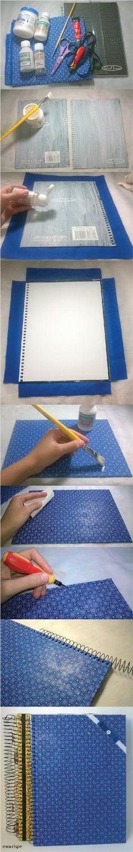 Hey! Você tem algum caderno velho em casa e quer dar uma cara nova a ele? Vem aprender a encapar cadernos com tecido :)