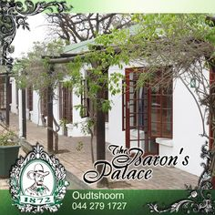 Baron's Palace caters for a variety of accommodation needs and our cottage type rooms situated on the ground floor and in close proximity of each other make these ideal for large groups or business tours. Contact us for more information or to make your group booking. #accomodation ##venue #oudtshoorn The Ostrich, Log Fires, Wooden Staircases, Close Proximity, Palace Hotel, Old World Charm, Ground Floor, Lush, Pergola