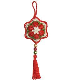 Cómo tejer una estrella navideña a partir de la flor africana a crochet (crochet african flower star)
