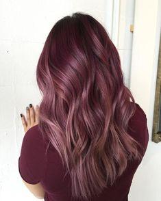 Maroon Hair Colors, Burgundy Hair, Hair Dye Colors, Cool Hair Color, Winter Hair Colors, Purple Brown Hair, Maroon Color, Hair Colour, Hair Color Balayage