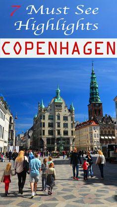 7 must see highlights in Copenhagen, Denmark. What to see in Copenhagen, what to eat, and where to stay in Copenhagen. #Copenhagen #traveleurope #Nyhavn
