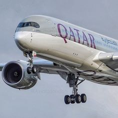 Airbus A350 Qatar Airlines  by Spotter @ Heathrow Airport @aviatorlondon Instagram photo | Websta (Webstagram)