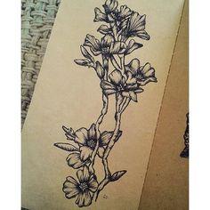 【rocioachavar】さんのInstagramをピンしています。 《🌸 #cherryblossoms #flowers #illustration #doodle #sketch #doodling #artwork #art #artist #ink #blackandwhite #nature #draw #drawing #garden #plants #creative #tattoo #desing #instart #instalike #instachile》