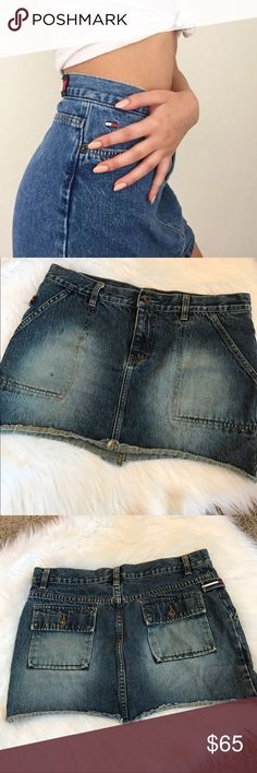 Tommy jeans vintage jean skirt Super cute! Tommy Hilfiger! Listed brand for views. Open to offers! LF Skirts