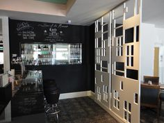 chalk board wall + partition