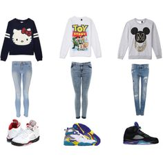 """""""Untitled #4"""" by johnson-kellie on Polyvore cheap jordan 5 only $63, save up to 54% off for all #Nikes #Shoes"""