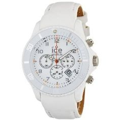 Ice-Watch Men's Chronograph White Big Leather Strap Watch CH.WE.B.L: Ice-Watch: Amazon.co.uk: Watches