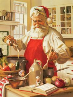Santa Doing Some Cooking