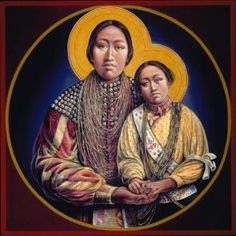 Patowatomi Madonna and Child | A painting by Fr John Battista Giuliani