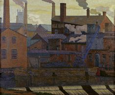 Charles Ginner - Leeds Canal 1914